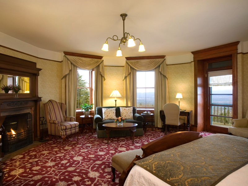 inside of the tower room suite