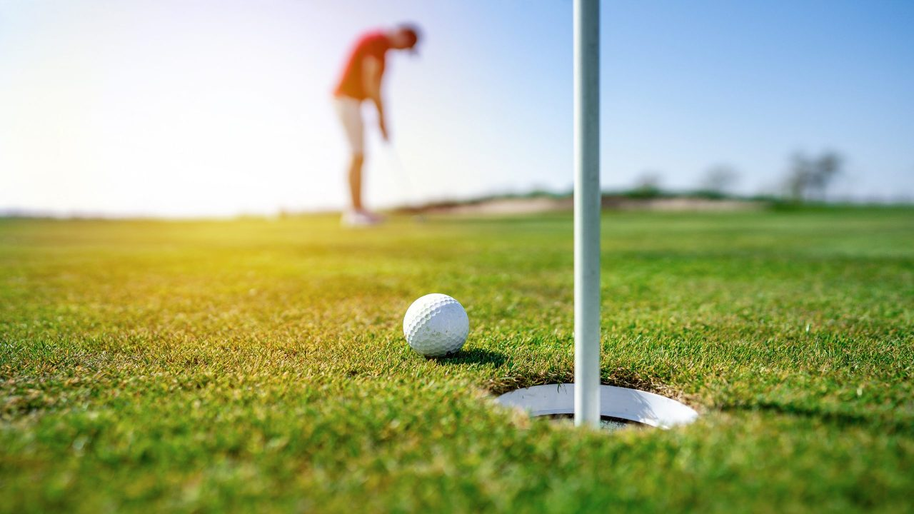 golfer on golf course